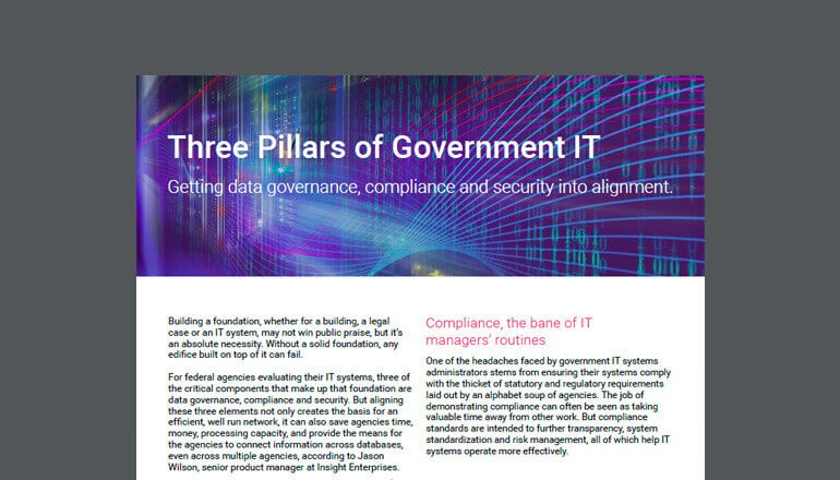 Three Pillars of Government IT cover