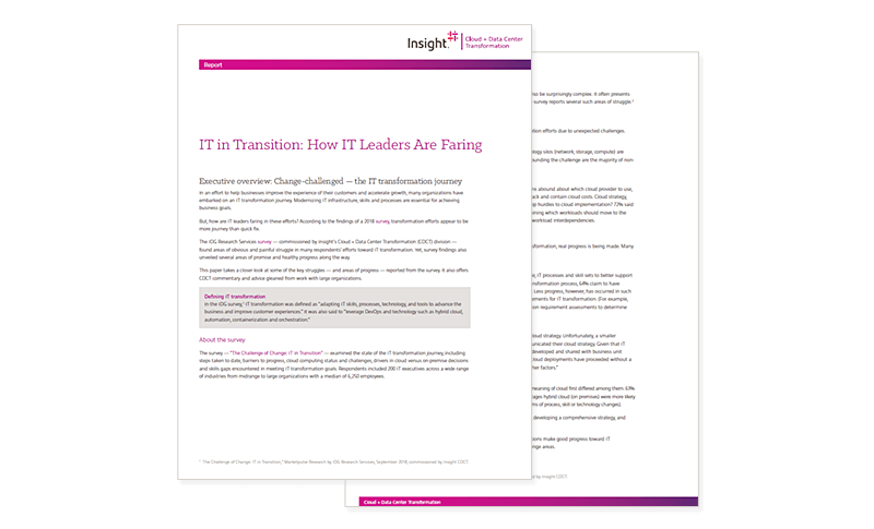 IT in Transition: How IT Leaders Are Faring