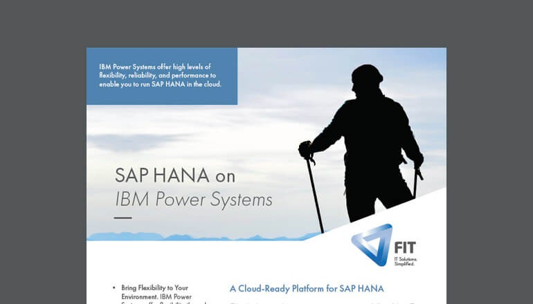 SAP HANA on IBM Power Systems Datasheet cover
