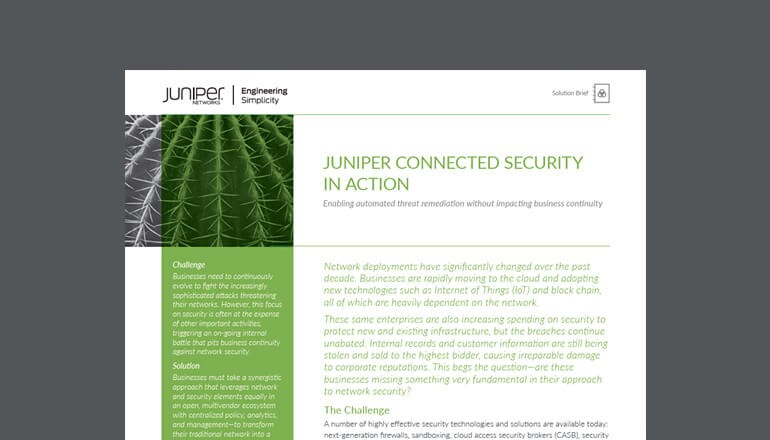 Juniper Connected Security in Action thumbnail