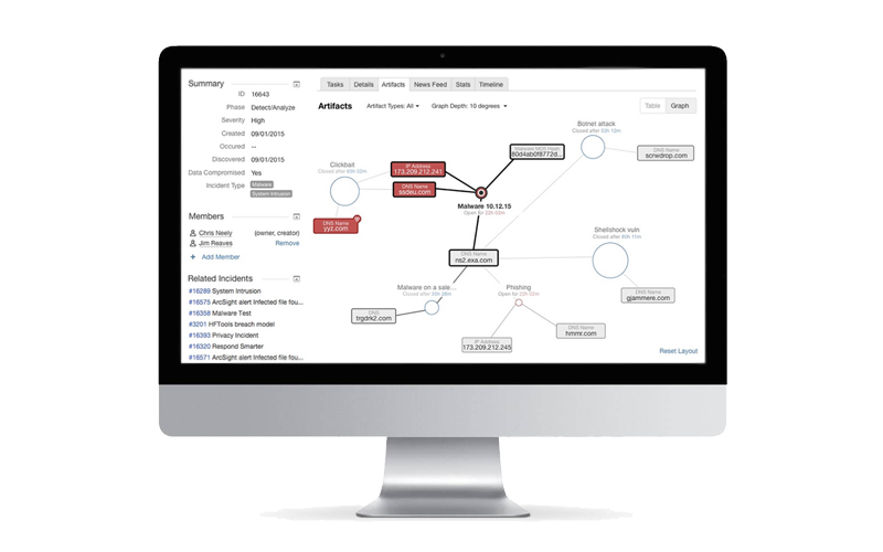 IBM Resilient Incident Response Platform mock screenshot