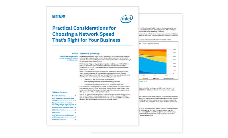 Intel Network Speed whitepaper cover