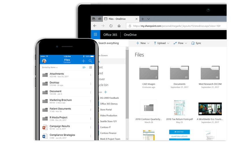 OneDrive for Business screenshot