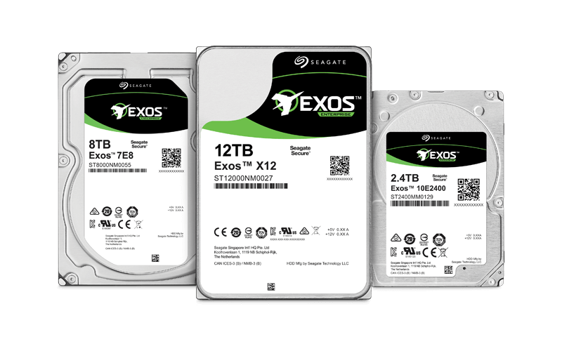 Seagate Exos enterprise hard drive
